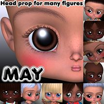 MAY by 3Dream Accessories Software Props/Scenes/Architecture Stand Alone Figures 3Dream
