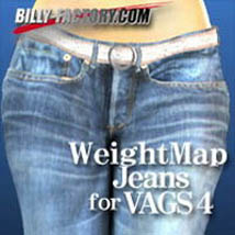 WeightMap Jeans for VAGS4 3D Figure Assets billy-t