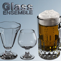 Exnem Glass Ensemble - Props and Materials 2D Graphics 3D Figure Assets 3D Models exnem