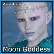 Moon Goddess V4-A4-G4 Props/Scenes/Architecture Clothing Themed -Wolfie-