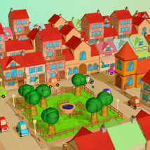 3DToons Toon Village Props/Scenes/Architecture Transportation Themed Stand Alone Figures aeilkema