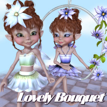 Lovely Bouquet Clothing Themed Accessories JudibugDesigns