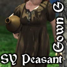SY Peasant Gown G 3D Figure Essentials SickleYield