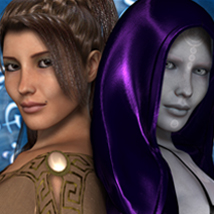 FW Kassan and Sandra for Victoria 4.2 / V 4 Themed Software Characters FWArt