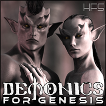 HFS Races: Demonics 3D Figure Essentials 3D Models DarioFish