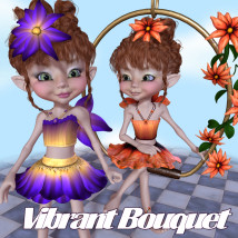 Vibrant Bouquet Accessories Themed Clothing JudibugDesigns