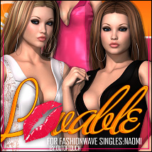 Lovable for FASHIONWAVE Singles: Naomi V4/A4/G4 3D Figure Assets 3D Models ShanasSoulmate