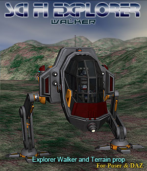 Scifi Explorer Walker Props/Scenes/Architecture Themed Transportation Simon-3D