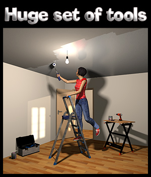 Do it yourself scene & tools set 3D Models 2nd_World