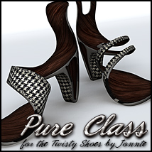 Pure Class for CS Twisty Shoes Themed Footwear Sveva