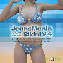 JeansMania for V4 Bikini Materials/Shaders Clothing GKDantas