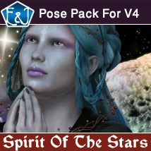 Spirit Of The Stars Poses Pack For V4 3D Figure Assets EmmaAndJordi