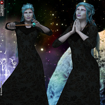 Spirit Of The Stars Poses Pack For V4 image 2
