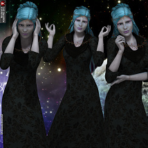 Spirit Of The Stars Poses Pack For V4 image 5