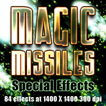 Magic Missiles Special Effects Themed 2D And/Or Merchant Resources TheToyman