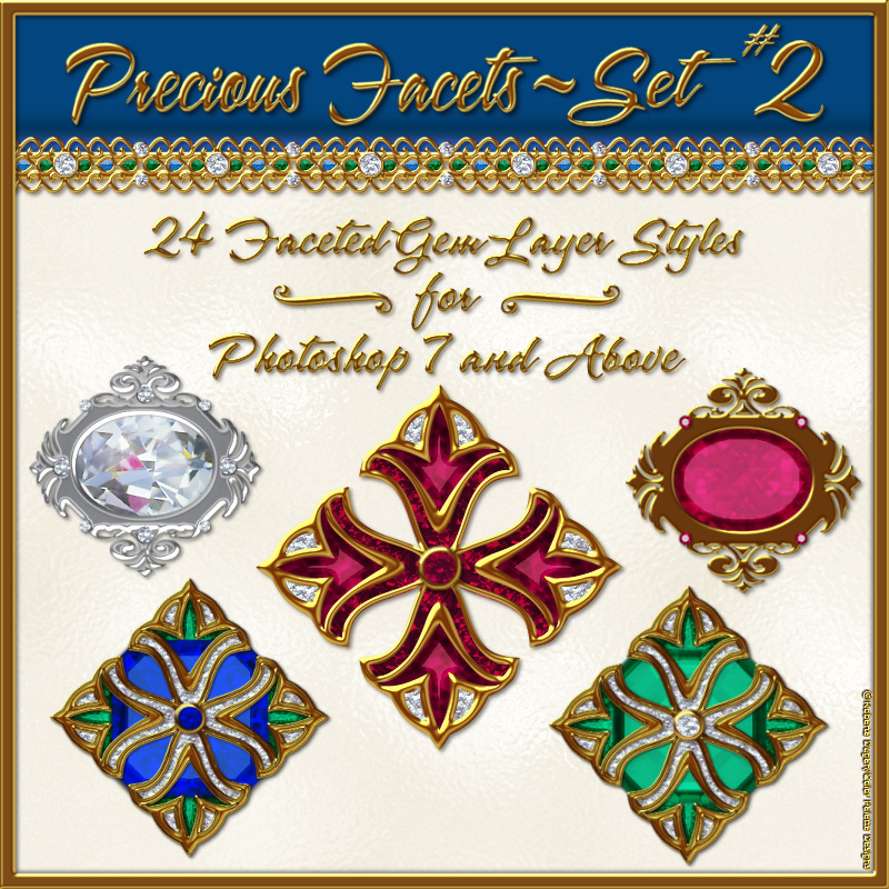 BLING! Precious Facets Set #2 by fractalartist01
