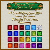 BLING! Precious Facets Set #2  2D And/Or Merchant Resources Themed fractalartist01