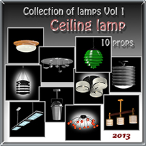 Ceiling lamp 3D Models Software tuketama