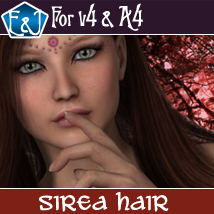 Sirea Hair For V4 And A4 Themed Software Hair EmmaAndJordi