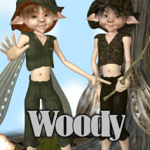Woody Clothing Themed Accessories Hair JudibugDesigns
