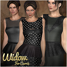 Widow for Carrie Clothing Atenais