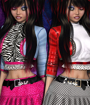 Sabine Stylz Clothing 3D Figure Essentials 3DSublimeProductions