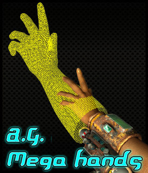 A. G. Mega Hands Props/Scenes/Architecture Themed Accessories Cybertenko