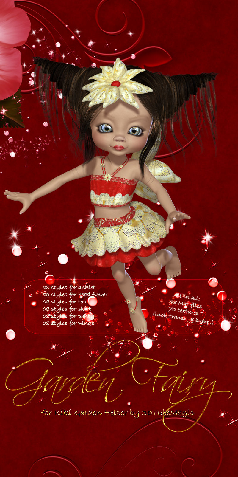 DA-Garden Fairy for Kiki Garden Helper 3D TubeMagic