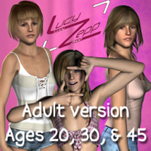 "Lucy Zepp ""Adult"" for V4, S4, Elite Characters jamminwolf"