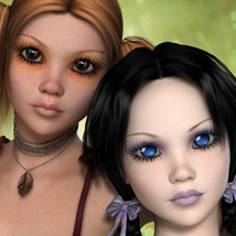 FW Aimeelea and Amy for Aiko 4 / Victoria 4.2 / A4 V4 3D Figure Essentials 3D Models FWArt
