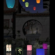 Floating Lanterns for DAZ Studio 3D Models Software Khory_D