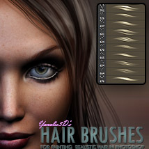 Y3D Hair Brushes for Photoshop 2D Yanelis3D