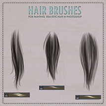 Y3D Hair Brushes for Photoshop image 1