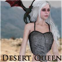 Desert Queen 3D Figure Essentials 3D Models Silver