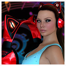 Rockin' Kitty for Kitty Phones 3D Figure Essentials 3D Models Artemis