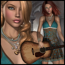 Country Gal V4 3D Figure Essentials 3D Models Propschick