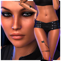 SHOOTBabes Dronna for V4 3D Figure Essentials outoftouch