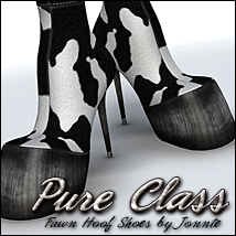 Pure Class for Fawn Hoof Shoes 3D Figure Assets Sveva
