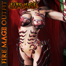 FIRE MAGE Software Clothing Themed Accessories Hair ironman13