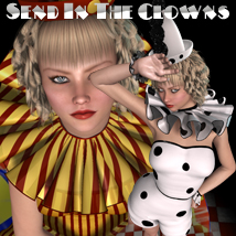 Send In The Clowns V4-A4-G4 3D Figure Assets 3D Models nikisatez