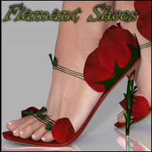 Flamant Shoes V4 3D Figure Assets nikisatez