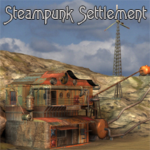 AJ_Steampunk_Settlement Props/Scenes/Architecture Themed -AppleJack-