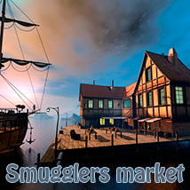 Smugglers market Software Props/Scenes/Architecture Themed 1971s