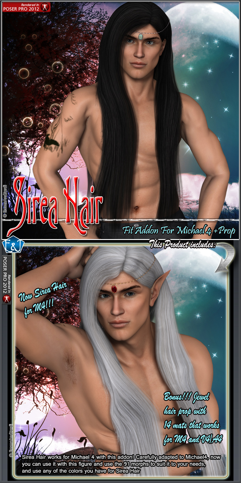 M4 Fit Addon For Sirea Hair And Prop