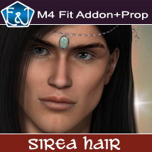 M4 Fit Addon For Sirea Hair And Prop Themed Software Hair EmmaAndJordi