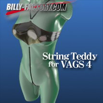 V4 string teddy 3D Figure Assets billy-t