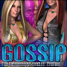 Gossip for FASHIONWAVE Singles: Cynthia V4/A4/G4 3D Models 3D Figure Essentials ShanasSoulmate
