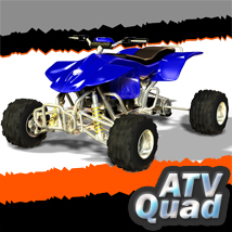 ATV Quad 3D Models 3D Figure Essentials apcgraficos
