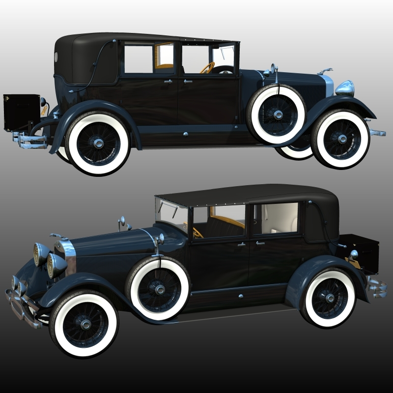 LINCOLN L TOWN CAR1929 (for Poser) by 3DClassics