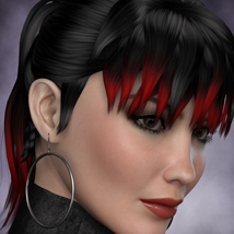 FWs Styles for Tarah Hair by -Wolfie- 3D Figure Essentials FWArt